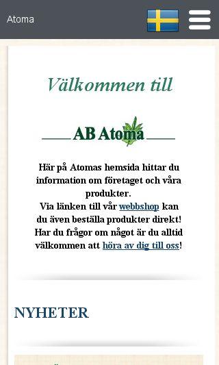 Mobile preview of atoma.se