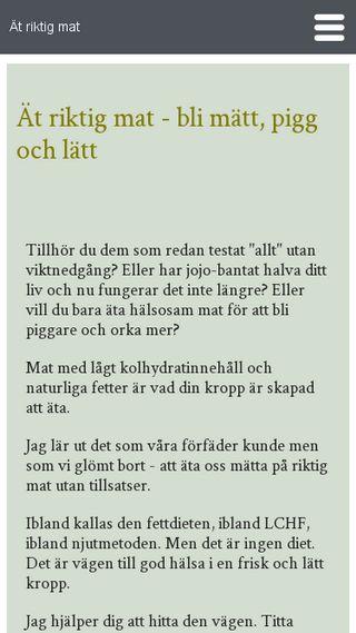 Mobile preview of atriktigmat.se