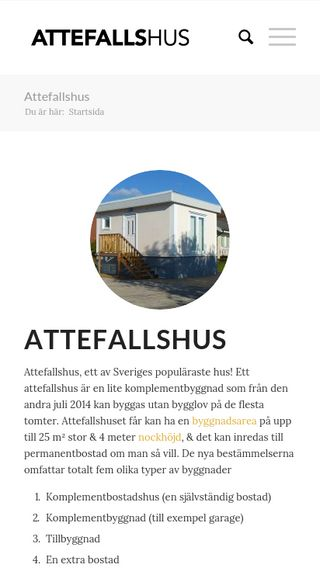 Mobile preview of attefallshusen.com