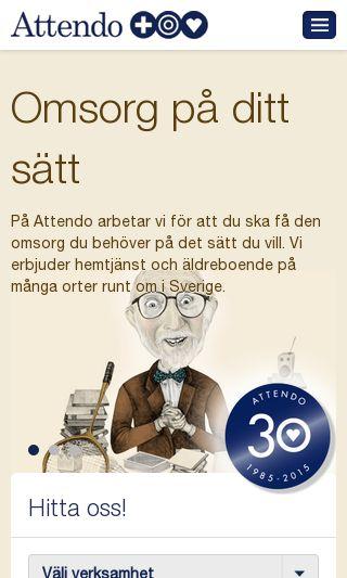 Mobile preview of attendo.se
