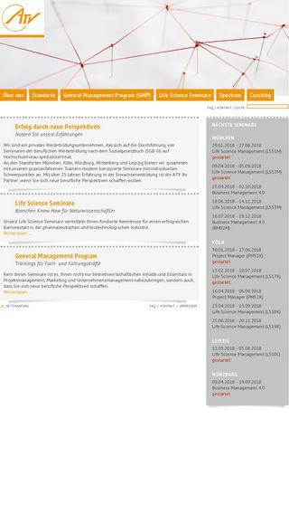 Mobile preview of atv-seminare.de