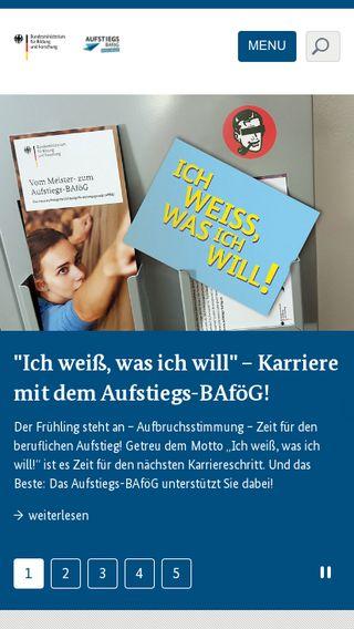 Mobile preview of aufstiegs-bafoeg.de