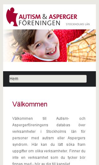 Mobile preview of autismvdb.se