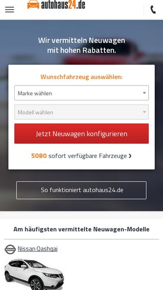 Mobile preview of autohaus24.de