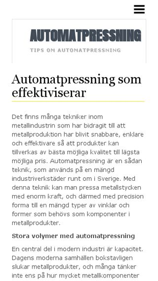 Mobile preview of automatpressning.n.nu