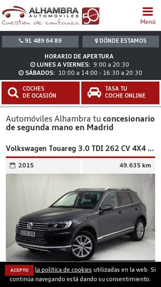 Mobile preview of automovilesalhambra.es