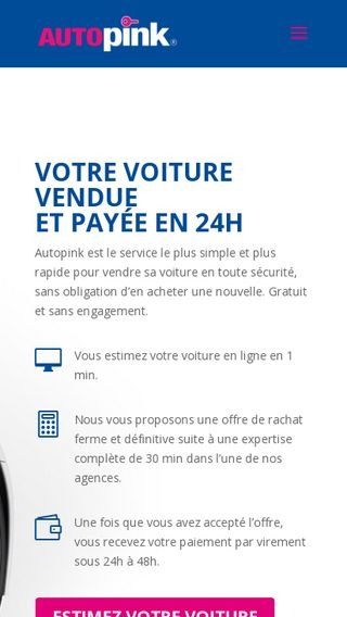 Mobile preview of autopink.fr