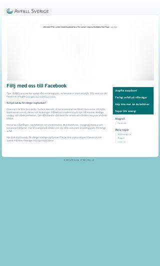 Mobile preview of avfallsverigekampanj.se