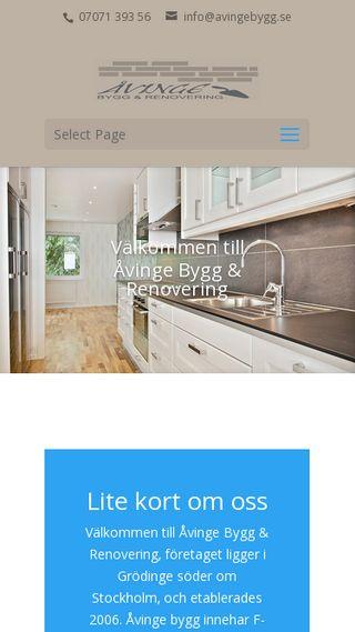 Mobile preview of avingebygg.se
