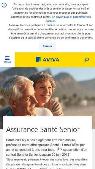 Mobile preview of aviva.fr