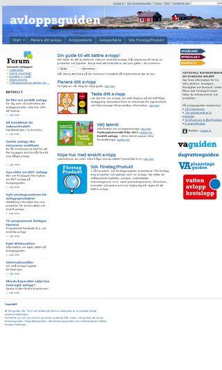 Mobile preview of avloppsguiden.se