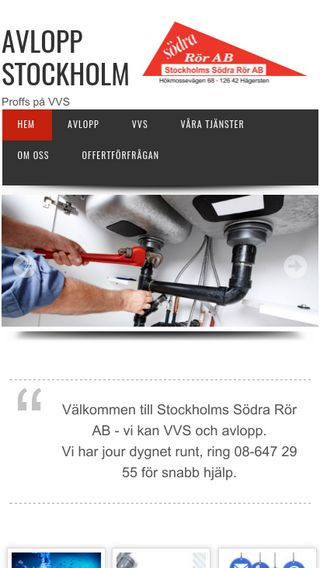 Mobile preview of avloppstockholm.se