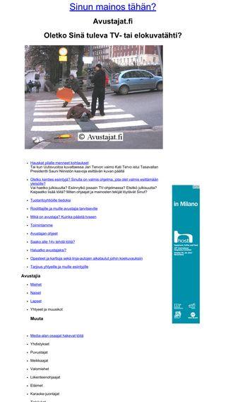 Mobile preview of avustajat.fi