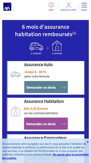 Mobile preview of axa.fr