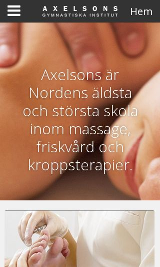 Mobile preview of axelsons.se