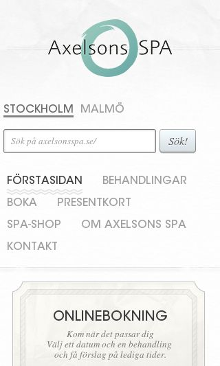 Mobile preview of axelsonsspa.se