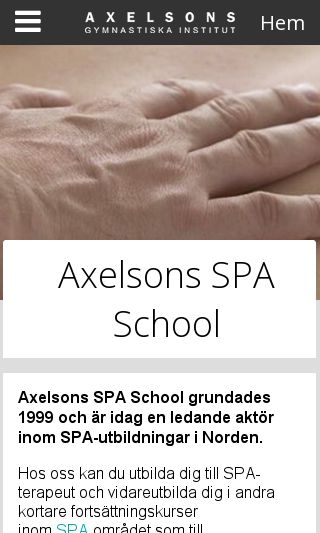 Mobile preview of axelsonsspaschool.se