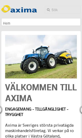 Mobile preview of axima.se