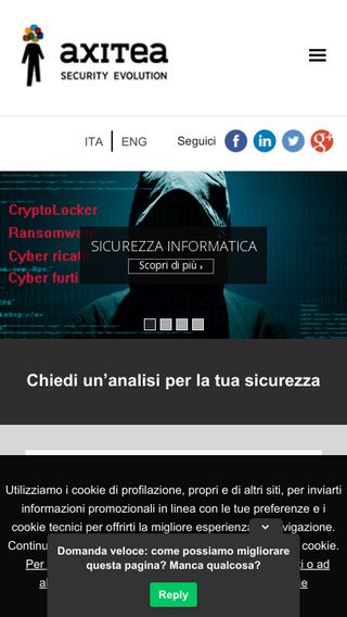 Mobile preview of axitea.it