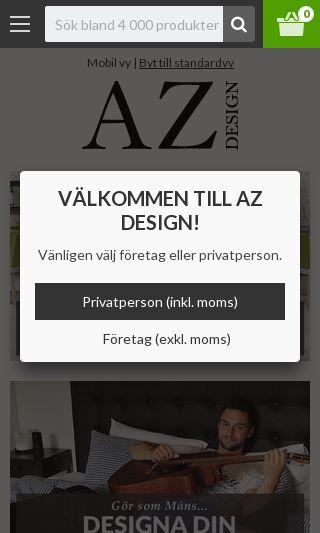 Mobile preview of azdesign.se