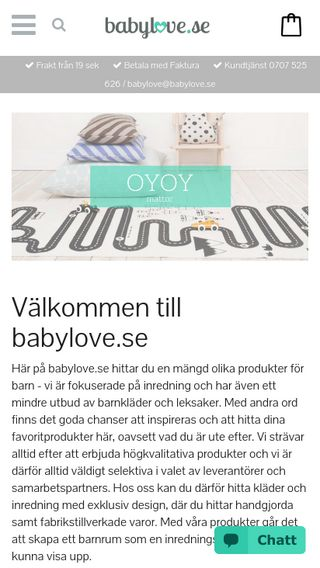 Mobile preview of babylove.se