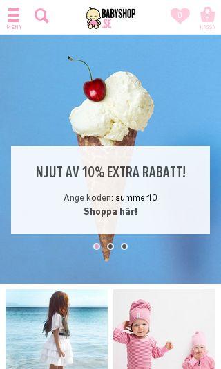 Mobile preview of babyshop.se