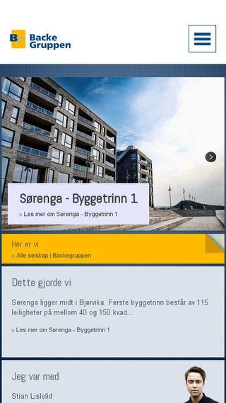 Mobile preview of backegruppen.no