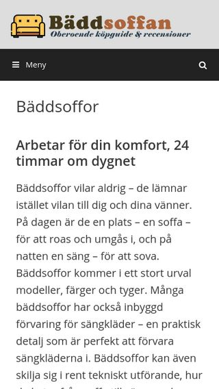Mobile preview of baddsoffan.se