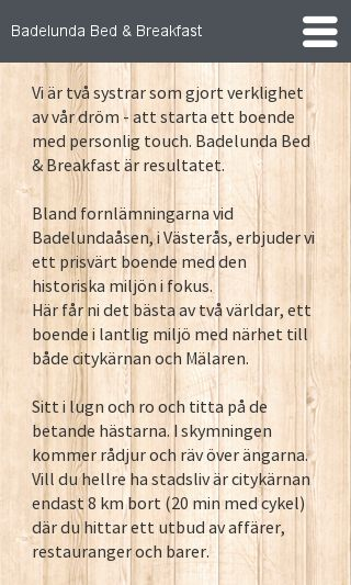 Mobile preview of badelundabed.se