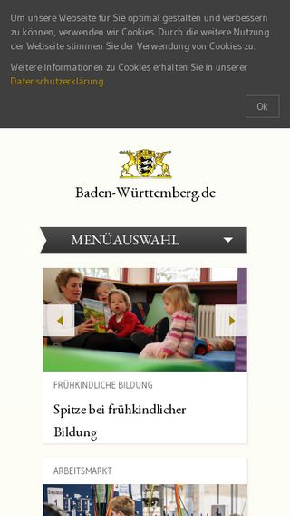 Mobile preview of baden-wuerttemberg.de