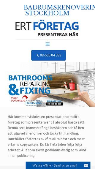 Mobile preview of badrumsrenoverarnastockholm.nu