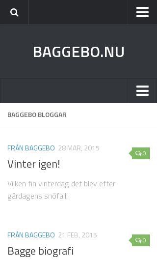 Mobile preview of baggebo.nu