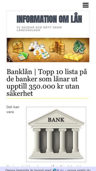 Mobile preview of banklan.n.nu