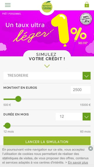 Mobile preview of banque-casino.fr