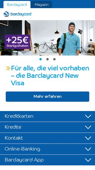 Mobile preview of barclaycard.de