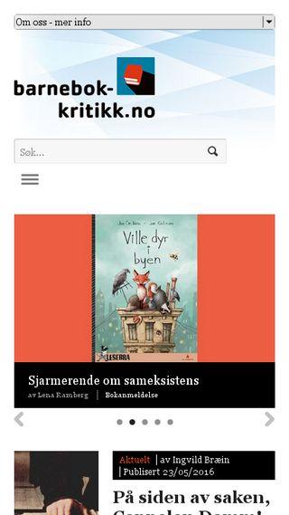 Mobile preview of barnebokkritikk.no