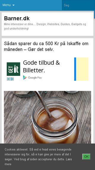 Mobile preview of barner.dk
