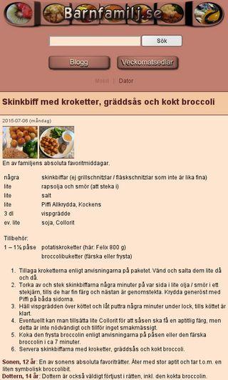 Mobile preview of barnfamilj.se