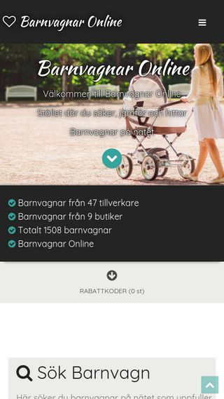 Mobile preview of barnvagnaronline.se