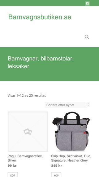Mobile preview of barnvagnsbutiken.se