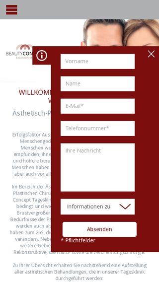 Mobile preview of bc-klinik.de