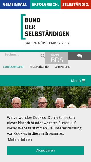 Mobile preview of bds-bw.de
