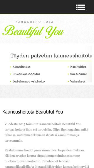 Mobile preview of beautifulyou.fi