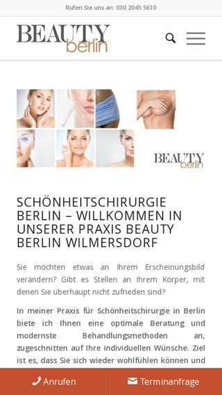 Mobile preview of beautyberlin.de