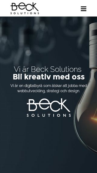 Mobile preview of becksolutions.se
