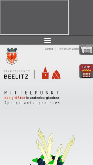 Mobile preview of beelitz.de