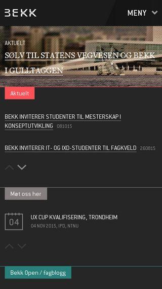Mobile preview of bekk.no