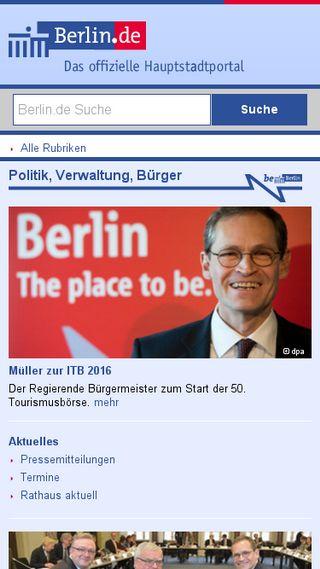 Mobile preview of berlin.de
