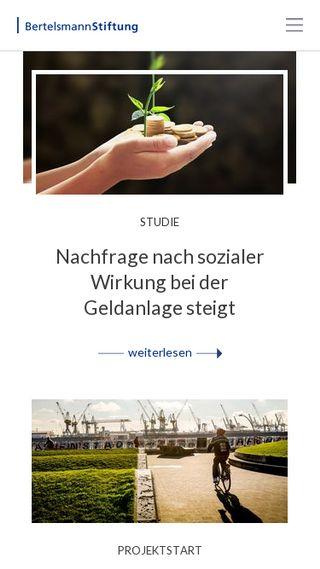 Mobile preview of bertelsmann-stiftung.de