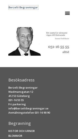 Mobile preview of berzeliibegravningar.se